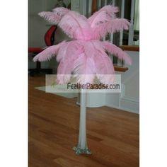 Baby Pink Ostrich Feather Centerpieces 6 Sets Wholesale Dozen Bulk Discount Cheap