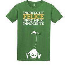 """Stampa T-Shirt Bambino #chesterton #frassati #distributismo """"Innocent è felice perchè è innocente"""" cit. GKC"""