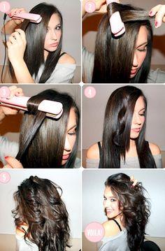 Cómo ondular el cabello con la plancha de pelo
