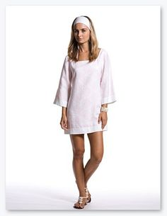 Pink Circles Long Sleeve Chica Dress from Island Company