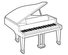 Real Piano Musical Instrument Coloring is fun learning for