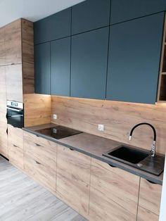 Grey Kitchen Designs, Kitchen Room Design, Home Room Design, Kitchen Cabinet Design, Modern Kitchen Design, Home Decor Kitchen, Interior Design Kitchen, Home Kitchens, Industrial Kitchen Design