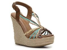Chinese Laundry Dance Fever Multicolor Wedge Sandal Women's Wedge Sandals Sandals Women's Shoes - DSW