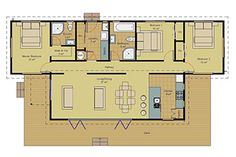 Your prefab home is made in our factory and transported to your site. Prefabricated Houses, Prefab Homes, Master Bedroom, House Plans, Floor Plans, Contemporary, How To Plan, Prefab Cottages, Prefab Cottages