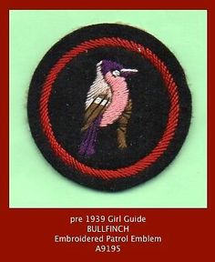 Embroided Felt 'Bullfrench' Girl Guide Patrol Emblem Badge - UK Girl Guides