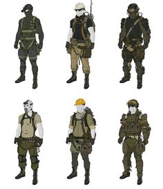 Bildresultat för jungle soldier character design