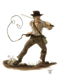 Indiana Jones by Otis Frampton. Makes me want to see an Indiana Jones cartoon.