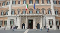 SIGHTS. Palazzo Di Montecitorio. Palazzo di Montecitorio in Rome, Italy, currently the seat of the Italian Chamber of Deputies.