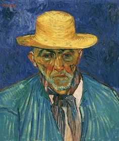 Art of the Day: Van Gogh, Portrait of a Peasant (Patience Escalier), August 1888. Oil on canvas, 64.1 x 54.6 cm. The Norton Simon Museum, Pasadena CA.