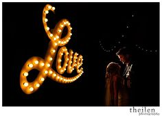 Love in lights. | Theilen Photography