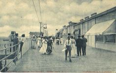 OCEAN CITY, NJ THROUGH THE YEARS: FROM 1900 TO 1910.... The Ocean City Boardwalk.                                                                                                                                                                                 More
