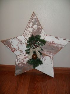 The Best DIY Wood and Pallet Ideas: Items similar to Rustic White Holiday Star on Etsy...