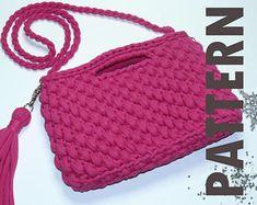 Crocheted handbags  pattern designs by KseniyaDesign on Etsy