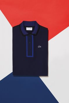Discover our Made in France short sleeve color Block Polo.
