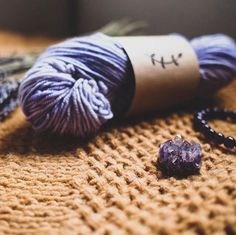 Amethyst is one of my favourite semi -precious stones // Lichen and Lace 4ply Worsted in Amethyst // What other stones would make good colourways? This gorgeous pic is by @bedrockandbrambles