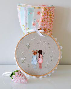 The Great Embroidery Swap | 'Brambleberry Ridge' fabrics ~ by Down Grapevine Lane