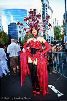 pre-parade Mardi Gras, Sydney, Reflection, Carnival