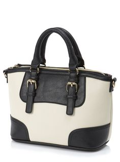 Keep all your essentials stylishly contained in this little bag. British Home Stores, High Street Shops, Grab Bags, Little Bag, Ss 15, Black Cream, Spring Fashion, Women Wear, Seasons