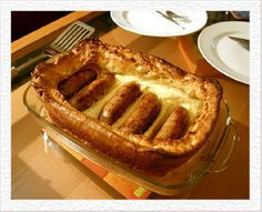 Toad in the Hole  British Foods with strange names