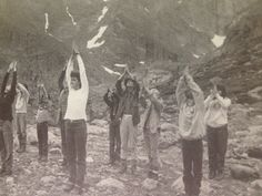 Doing yoga in the 70's at chasm junction!