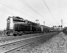 Undated image of a Pennsylvania Railroad train.  (Baltimore Museum of Industry)
