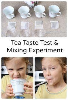Preschool Science...Tea Taste Test & Mixing Experiment