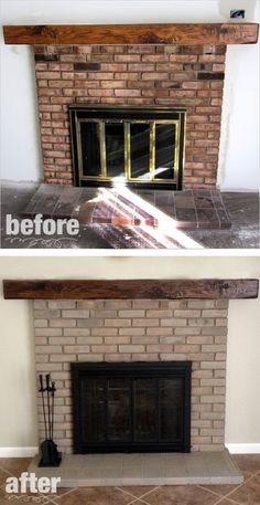 Fireplace Remodel - Paint & Stain :: Hometalk