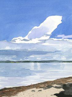 Eva Bartel, Cloud, Lac la Biche, Alberta, watercolor