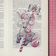 Merry  Romantic Carnival bookmark by ribonitachocolat on Etsy