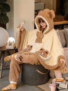 Cute Pajamas, Pajamas Women, Desire Clothing, Korean Outfit Street Styles, Bear Costume, Cute Teddy Bears, Everyday Items, Kpop Outfits, Fashion Lookbook