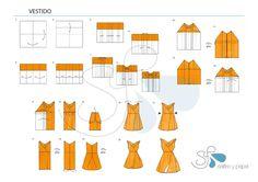 tutorial origami dress