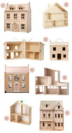 beautiful wooden dollshouses for children's rooms (Room to Bloom) Wooden Dollhouse, Dollhouse Furniture, Doll House Plans, Mini Doll House, Baby Room Decor, Kids Furniture, Kids Room, King Comforter, Comforter Sets