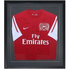 Arsenal 2011/12 Fully Signed & Framed Football Shirt