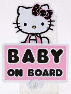 HELLO KITTY Baby on board