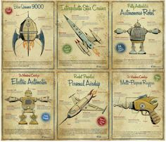 free set of Vintage Robot printables. These would be cute framed for a boys room!