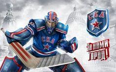 Обои клюшка, СКА, SKA, Хоккей, вратарь, логотип, хоккеист
