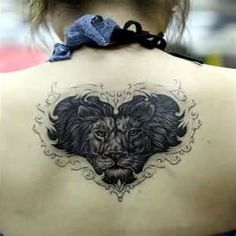 Leo Lion Tattoos For Women