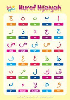 Gratis Printable Favorit : Mewarnai Huruf Hijaiyah Vol. Arabic Alphabet Letters, Arabic Alphabet For Kids, Learning Arabic, Kids Learning, Moslem, Learn Arabic Online, Arabic Phrases, Islam For Kids, Arabic Lessons