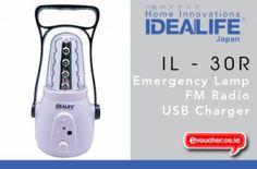 Emergency Lamp Dilengkapi Dengan FM Radio Dari IDEALIFE IL-30R Ini Untuk Kamu Miliki Hanya Dengan Rp. 119.000 - www.evoucher.co.id #Promo #Diskon #Jual  Klik > http://evoucher.co.id/deal/Emergency-Lamp-IL-30R  Dengan Emergency Lamp dari IDEALIFE IL-30R ini, kamu tidak perlu lagi takut gelap karna mati lampu dirumah. Dengan Emergency Lamp ini mampu menerangi rumahmu  Pengiriman akan dilakukan tanggal 2014-02-24