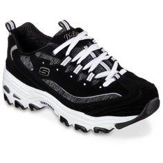 a8ee6e21364b Skechers Women s D Lites Me Time Walking Shoe - Black White