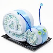tarta de pañales caracol - Buscar con Google