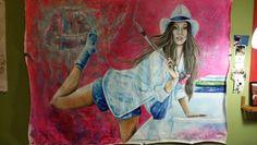 Original painting.Trabajado.by Pili Tejedo