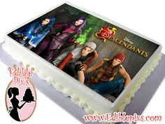 Disney Descendants Edible Image Cake Topper by Edible Pixs  Include Special text at checkout (optional)  Comes in 2 different sizes:  7.5x10 Edible