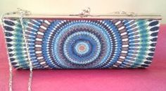 Clutch bag. Colour - Turquoise. Available from AFRO RETRO-BCN