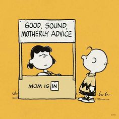 Lucy's motherly advice