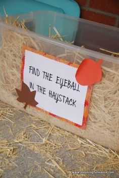 Day #307 - Game and Food Ideas for a Harvest Party - Meaningfulmama.com …