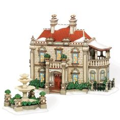 Department 56 Dickens Village Barrow Manor Set of 2 with Fountain ** Want additional info? Click on the image.