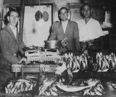 Το ιχθυοπωλείο των αδελφών Ιλανίδη στην Αγορά Μοδιάνο το 1935