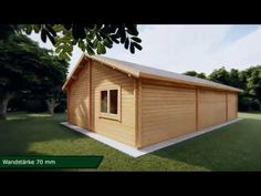 Ferienhaus mit zwei Schlafzimmern Dune / / 12 x 6 m - Mobile Homes, Dune, Cabins, Tiny House, Shed, Outdoor Structures, Wood, Windows And Doors, Wooden Cottage