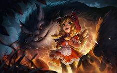 League Of Legends, Game Design, Annie, Princess Zelda, Artwork, Painting, Fictional Characters, Twitter, Multimedia